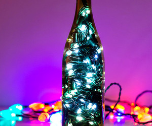 bokeh, christmas lights, and dof image
