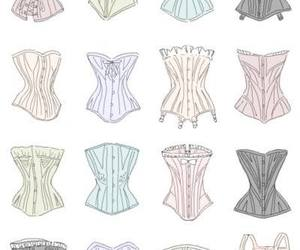 corset, lingerie, and vintage image