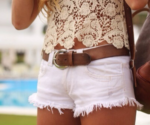 lace, tan, and top image