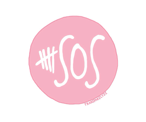 5sos, overlay, and pink image