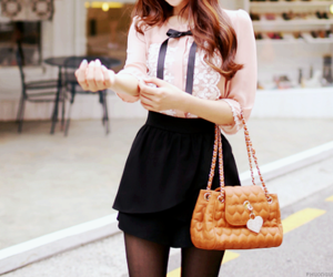 bag, black, and blouse image