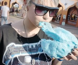 girl, cute, and cotton candy image