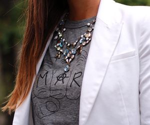 blazer, fashion, and necklace image