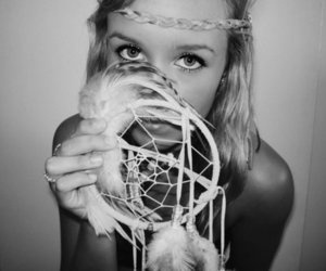 girl, blonde, and dream catcher image
