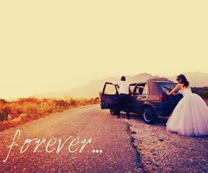 love, car, and forever image