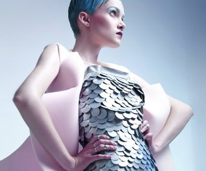 Couture, dragon, and editorial image