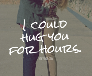 quote, hug, and love image