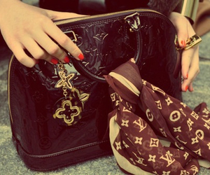 bag, Louis Vuitton, and scarf image