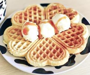 waffles, food, and ice cream image