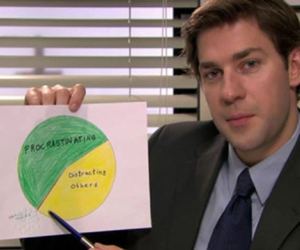 the office, funny, and jim halpert image