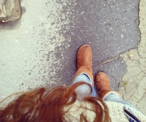 autumn and uggs image
