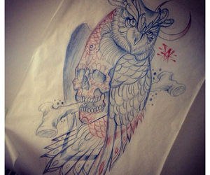 draw, owl, and sketch image