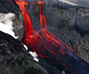lava, nature, and volcano image
