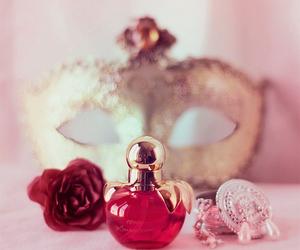 perfume, mask, and pink image