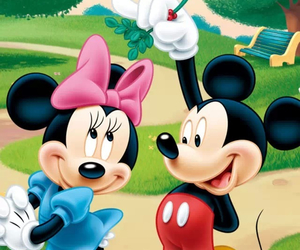 mickey, minnie, and minnie mouse image