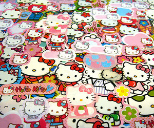 hello kitty, stickers, and cute image