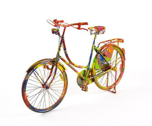 bycicle and paint image