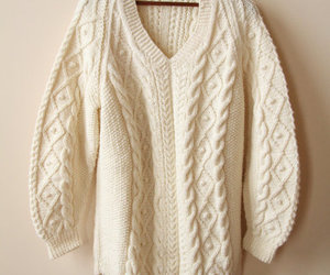 sweater, fall, and white image