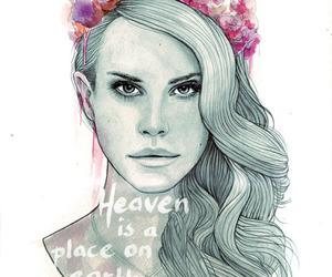 lana del rey, art, and flowers image