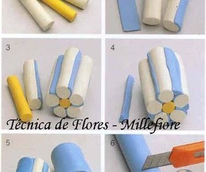 flowers, fimo, and tutorial image