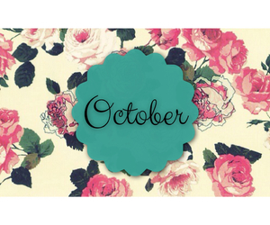 floral, lovely, and october image