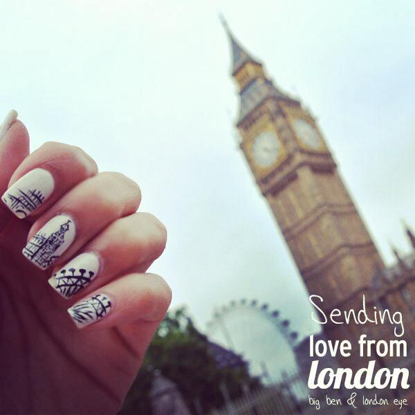 London eye big ben inspired nails on we heart it prinsesfo Gallery