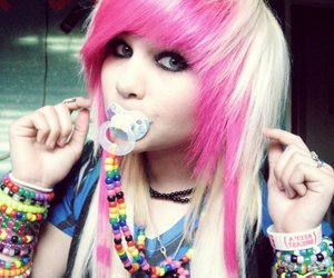 scene, emo, and pink hair image