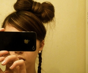 bow, hair, and hair style image