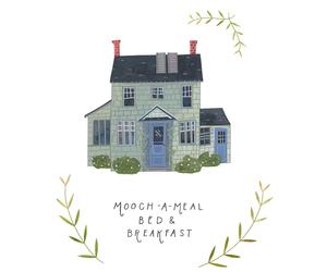 art, illustration, and house image