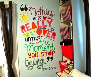 quote, text, and room image