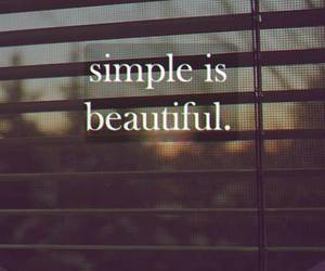 simple, beautiful, and quote image