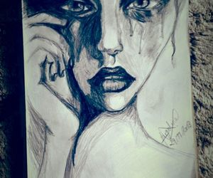 black and white, draw, and model image