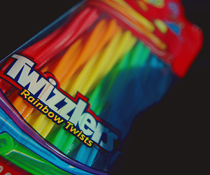 twizzlers, rainbow, and candy image