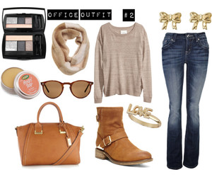 brown, fashion, and october image