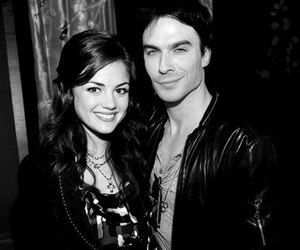 ian somerhalder, lucy hale, and pretty little liars image