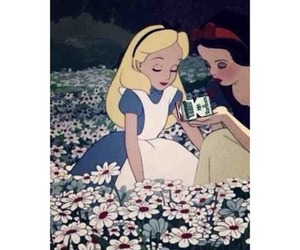 snow white, flowers, and alice image