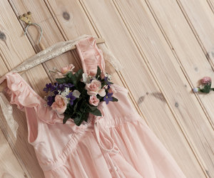 flowers, dress, and blossom image
