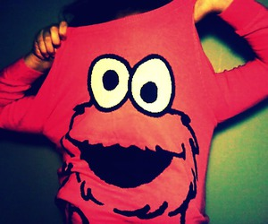 elmo, shirt, and red image