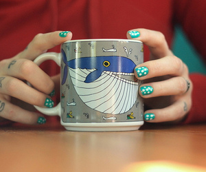 nails, whale, and tattoo image