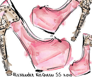 shoes, Alexander McQueen, and heels image