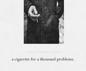 cigarette, problem, and smoke image