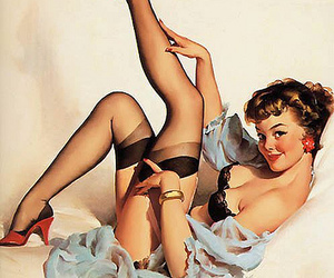 painting, pin-up, and vintage image