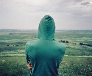 boy, photography, and green image