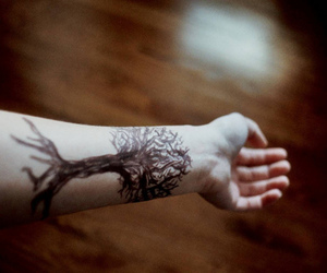 natural, tattoo, and tree image