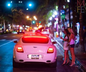 car, girl, and Bentley image