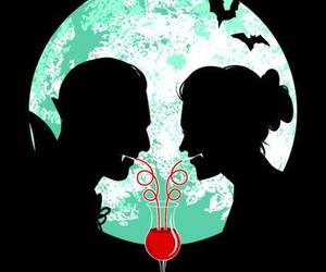 vampire, blood, and love image