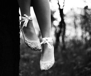 black and white, bokeh, and feet image