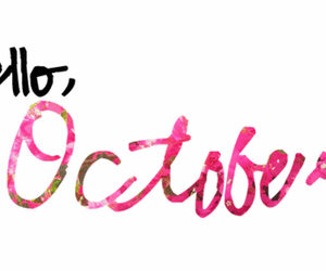 october, hello, and pink image