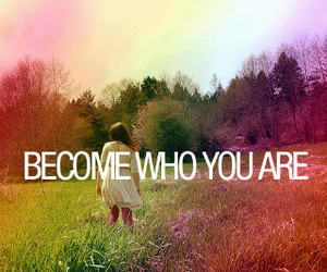 quote, become, and rainbow image