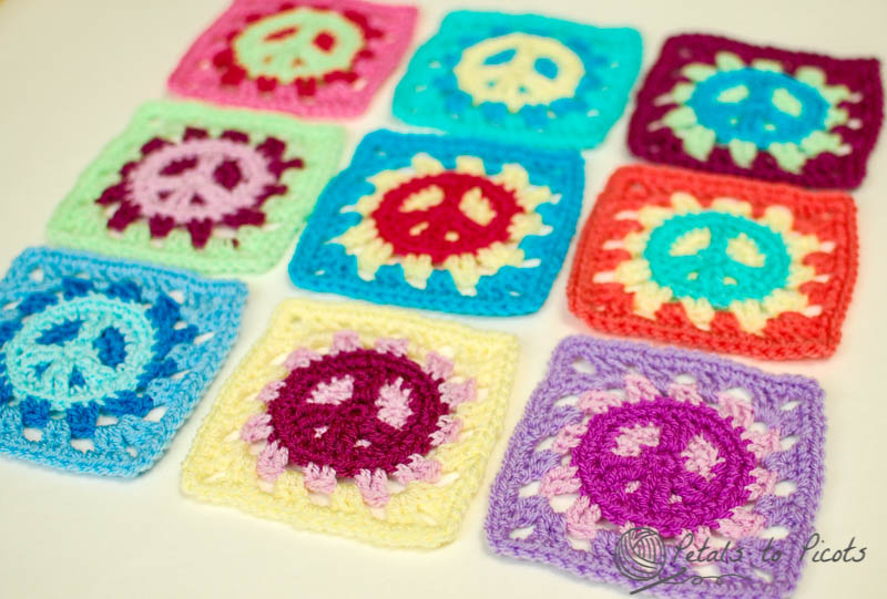 Peace Sign Granny Square Discovered By Tuty On We Heart It